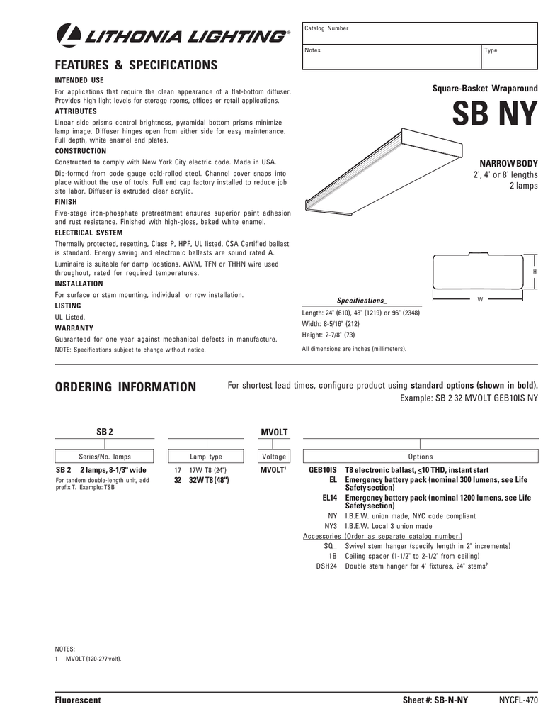 Detailed Specifications Lithonia Lighting T8 Wiring Diagram
