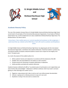 Academic Honesty Policy - Richland School District Two