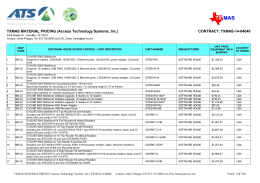 TXMAS Product Price List - Access Technology Systems
