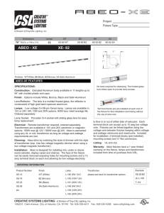 UC_11-09_Spec Sheets.indd - Creative Systems Lighting