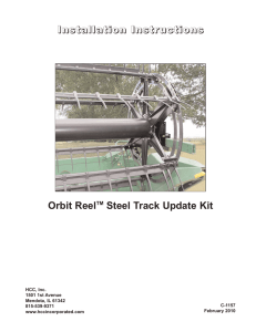 Orbit Reel Steel Track Update Kit Installation Instructions