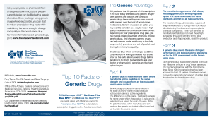 Top 10 Facts on Generic Drugs