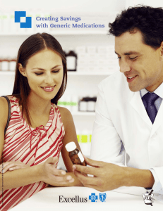 Creating Savings with Generic Medications