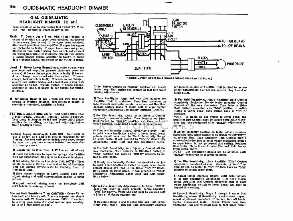 Light Dimmer Switch Wiring Diagram Gm