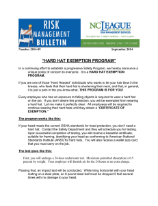 """HARD HAT EXEMPTION PROGRAM"""