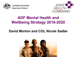 ADF Mental Health and