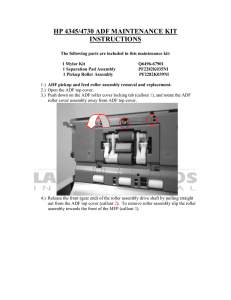 hp 4345/4730 adf maintenance kit instructions
