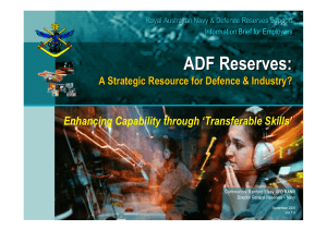 ADF Reserves - A Strategic Resource for Defence and Industry