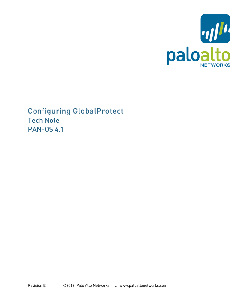 Configuring GlobalProtect