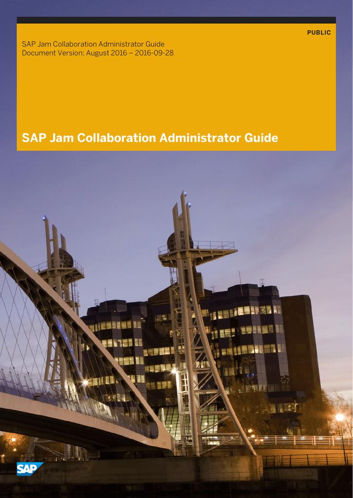 SAP Jam Collaboration Administrator Guide