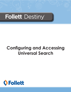 Configuring and Accessing Universal Search - Sign In