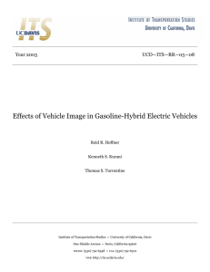 Effects of Vehicle Image in Gasoline
