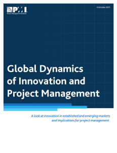 Global Dynamics of Innovation and Project Management