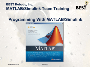 Programming With MATLAB/Simulink