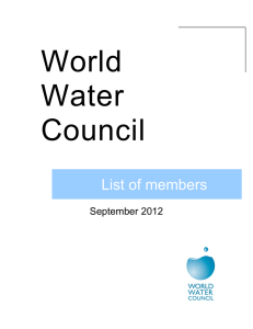 List of members - World Water Council