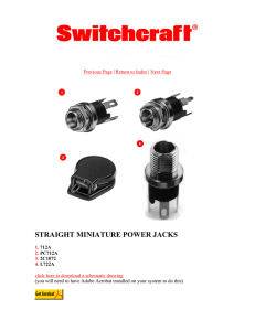 STRAIGHT MINIATURE POWER JACKS