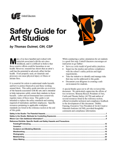 Safety Guide for Art Studios