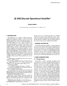 J E-990 Discrete Operational Amplifier
