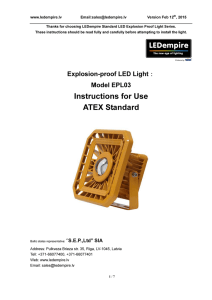 Instructions for Use ATEX Standard