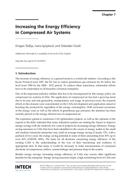 Increasing the Energy Efficiency in Compressed Air Systems