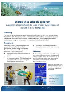Energy wise schools program - GBRMPA ELibrary
