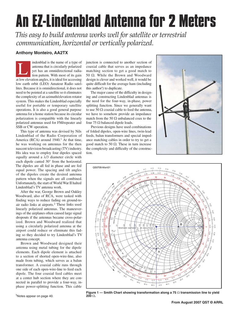 An Ez Lindenblad Antenna For 2 Meters Homemade Wiring Diagram