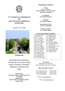 V NATIONAL SYMPOSIUM ON ADVANCES IN CHEMICAL