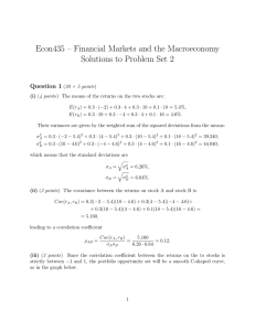 Econ435 – Financial Markets and the