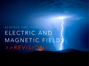 electric field strength