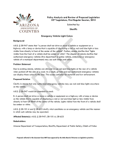 Emergency Vehicle Light Colors - Arizona Association of Counties