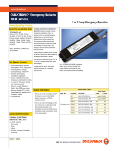QUICKTRONIC® Emergency Ballasts 1000 Lumens