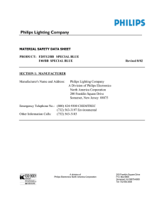 Philips F20, F40 Special Blue lamps