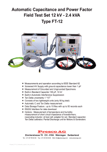 Automatic Capacitance and Power Factor Field Test Set 12 kV