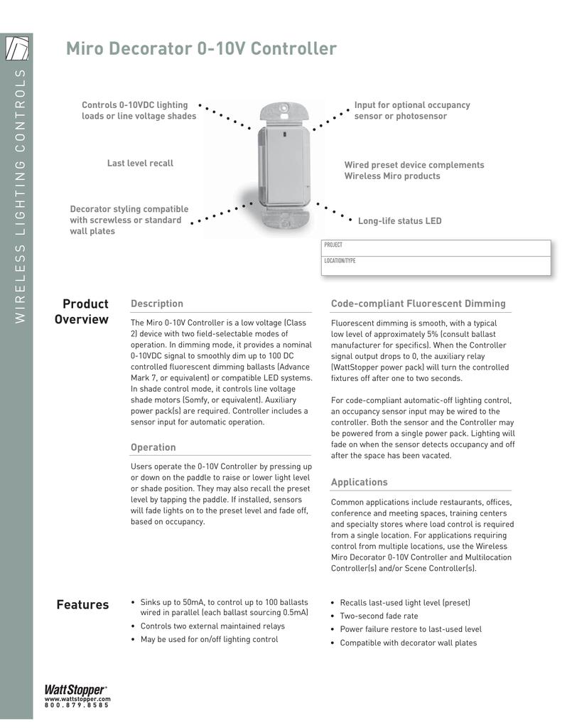 Miro Deco 0 10v Controllerindd 10vdc Wiring Diagram
