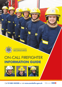 On-call firefighter information guide