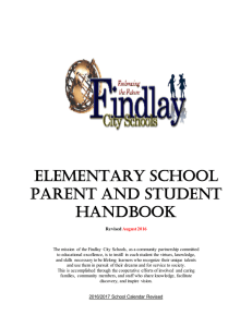 elementary school parent and student handbook