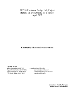 EE 318 Electronic Design Lab, Project Report, EE Department, IIT