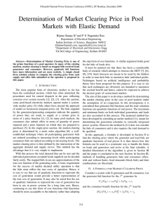 Determination of Market Clearing Price in Pool Markets with Elastic