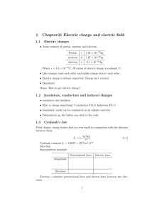 1 Chapter21 Electric charge and electric field
