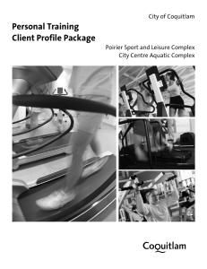 Personal Training Client Profile Package