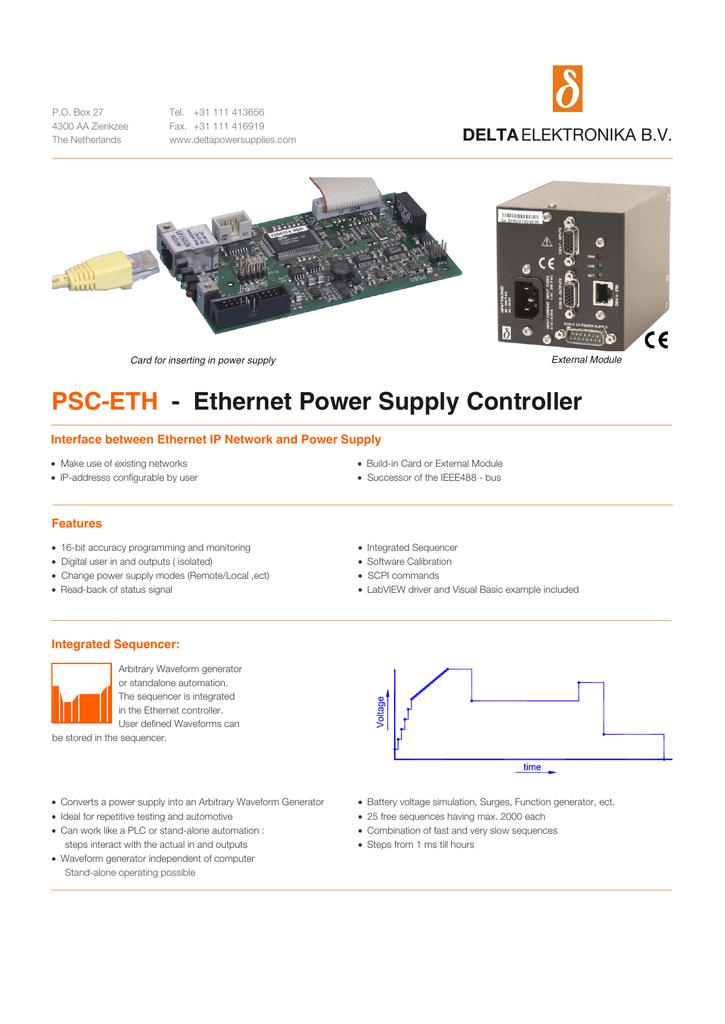 PSC-ETH Ethernet interface - Delta