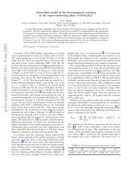 Mean-field model of the ferromagnetic ordering in the