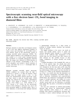Spectroscopic scanning near‐field optical microscopy with a free