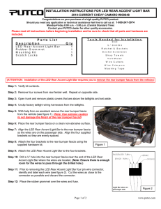 INSTALLATION INSTRUCTIONS FOR LED REAR ACCENT LIGHT