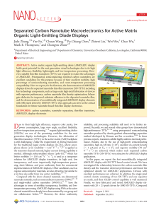 Separated Carbon Nanotube Macroelectronics for