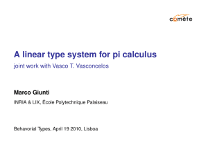 A linear type system for pi calculus