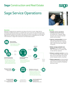 Sage Service Operations spec sheet