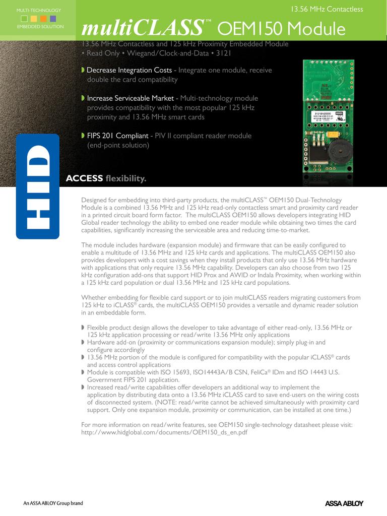 multiCLASS™ OEM150 Module