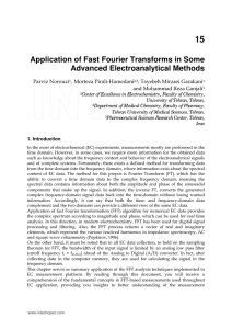 Application of Fast Fourier Transforms in Some Advanced