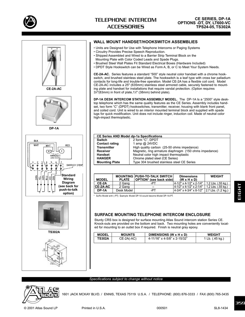 Spec Sheet Performance Audio Atlas Jack Plate Wiring Diagram
